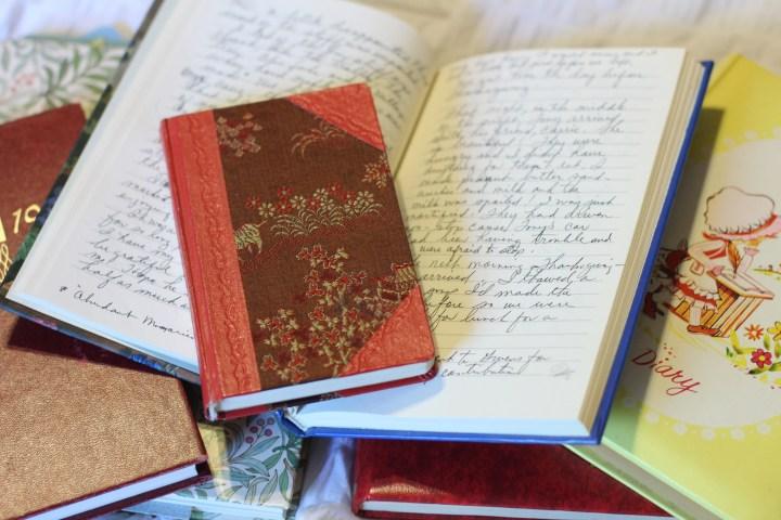Keeping a journal. Journaling. Journals