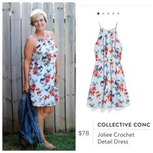 Collective Concepts Joliee Crochet Detail Dress Stitch Fix
