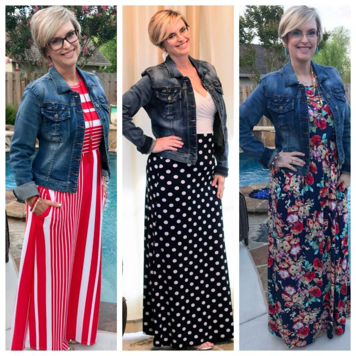 How to Style a Denim Jacket with a Maxi Dress