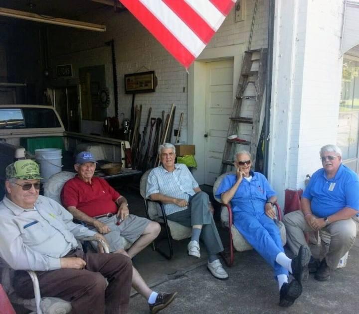 menfolk in the garage