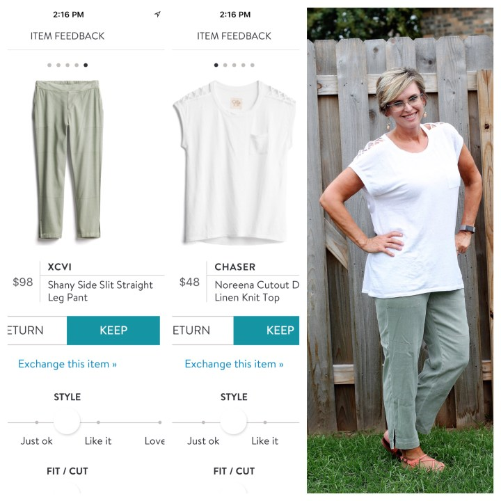 XCVI Shany Side Slit Straight Leg Pant | CHASER Noreena Cutout Detail Linen Knit Top