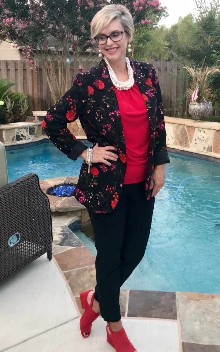 How to style a floral blazer