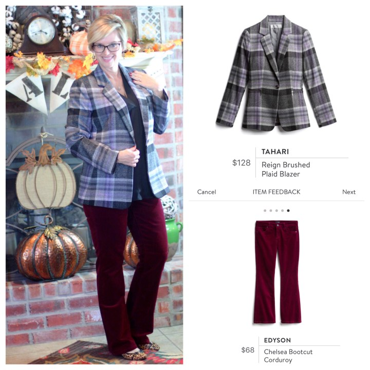 Tahari Plaid Blazer