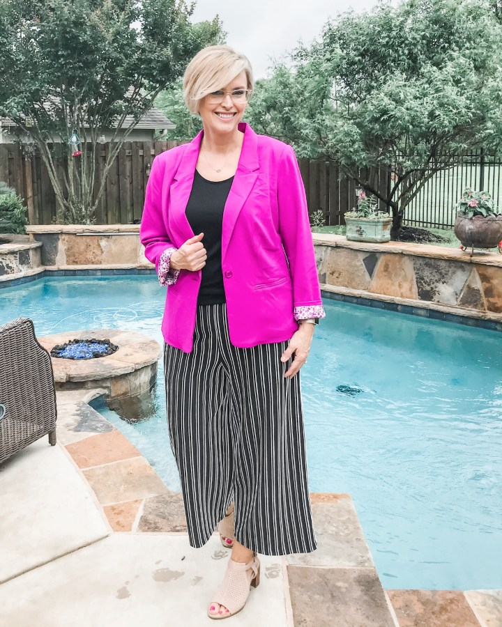 Kensie Blazer with wide leg crops