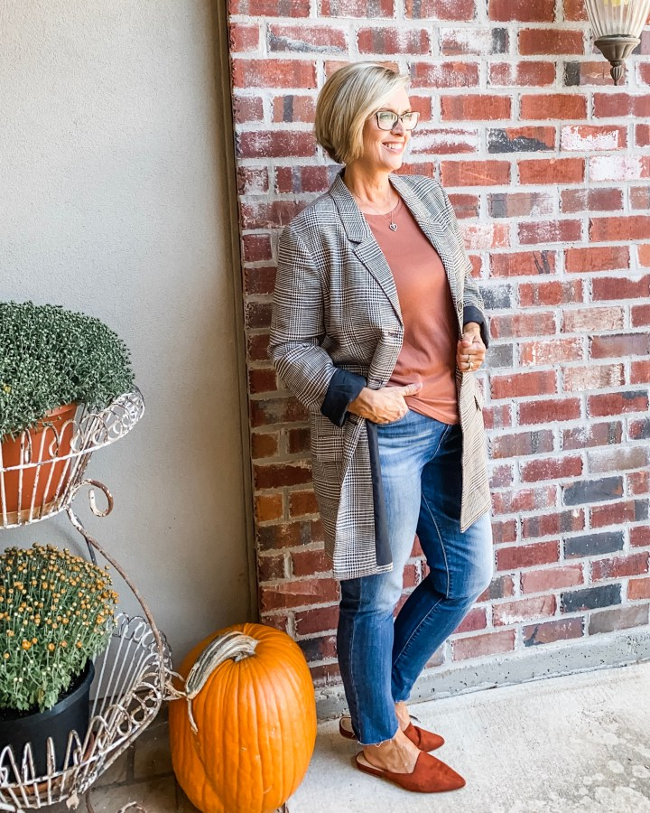 Plaid Jacket with Jeans