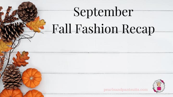 Fall Fashion Recap graphi