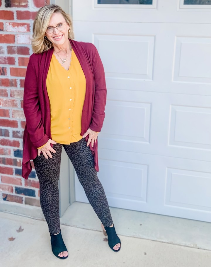 October Stitch Fix Reveal | BLANK NYC printed legging