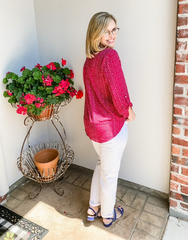 May Stitch Fix Reveal West Key pink Top