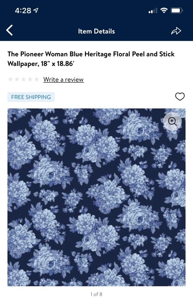 Pioneer Woman Blue Floral Wallpaper