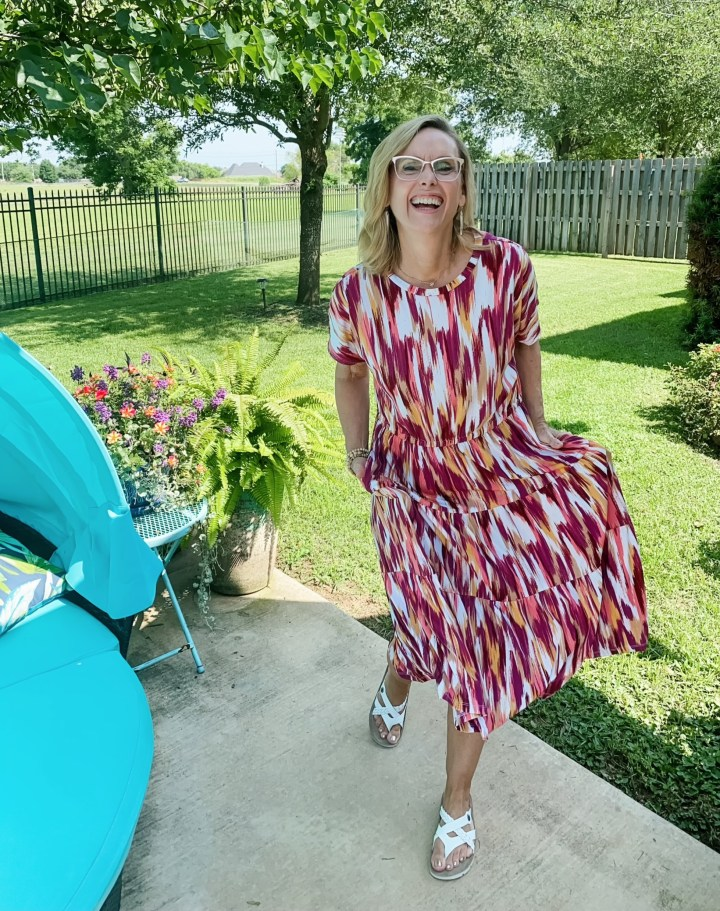 Donna Morgan Rowane Tiered Dress