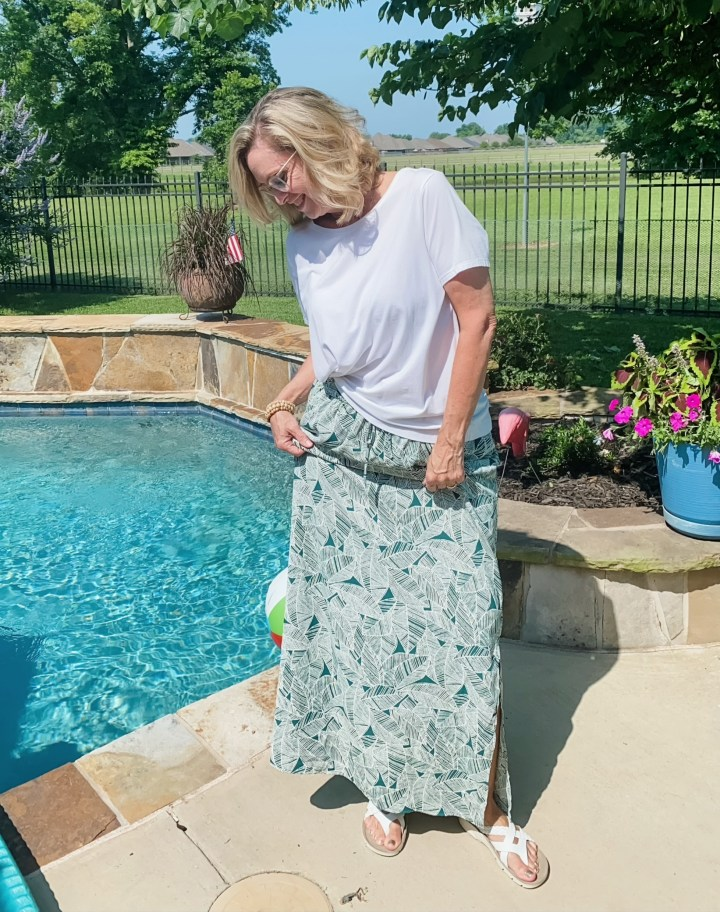 Summer Stitch Fix outfits - Skies Are Blue Ria Maxi Skirt