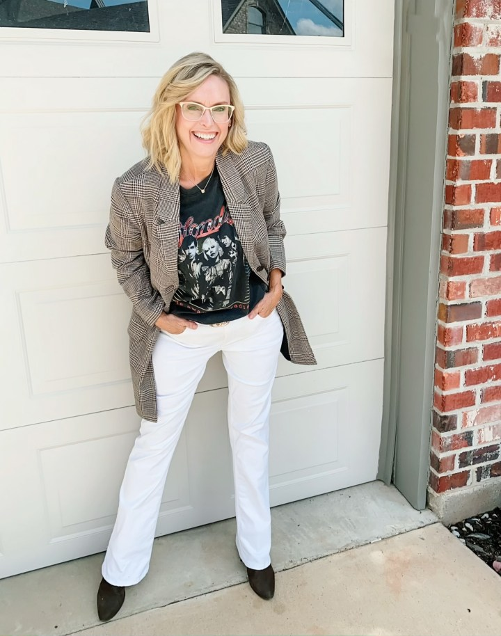 How to Style a Blazer with White Jeans