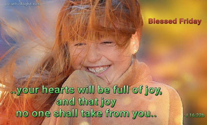 Your hearts will be full of joy (BL)