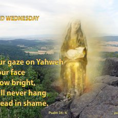 Fix your gaze on Yahweh and your face will grow bright…