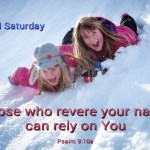 MWho revere your name can rely on You (BL)
