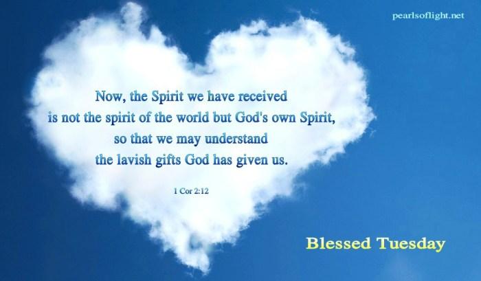 We have God's own Spirit (BL)