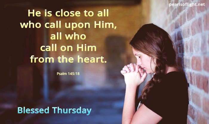 He is close to all who call on Him from the heart (BL)