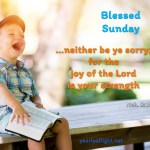 …neither be ye sorry; for the joy of the Lord is your strength