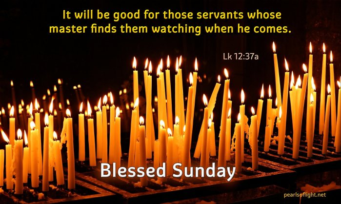 It will be good for those servants whose master finds them watching when he comes.