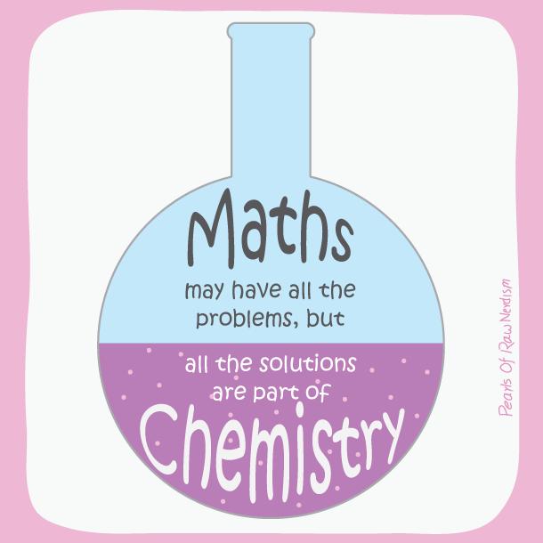 maths vs chemistry