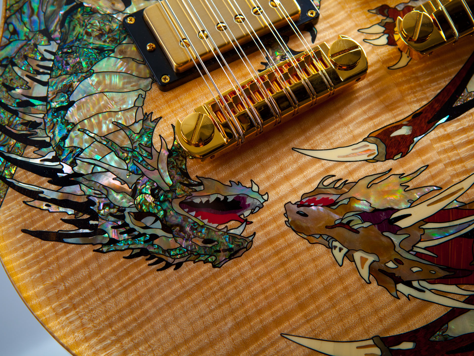 Prs Double Neck Dragon Pearl Works Inlay Artisans