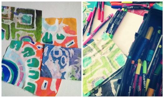 Diy Batik Glue Resist Fabric Prints