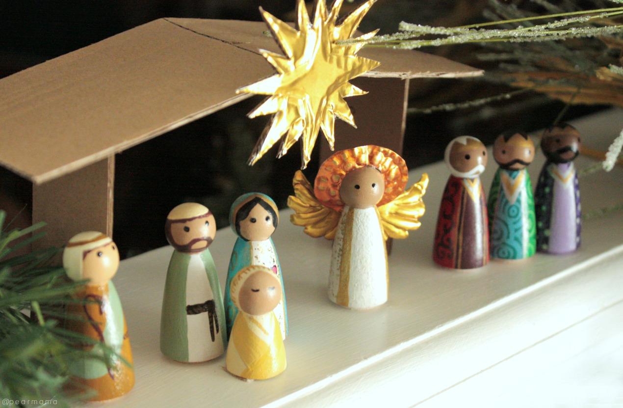 DIY Christmas Nativity Peg Dolls Pearmama