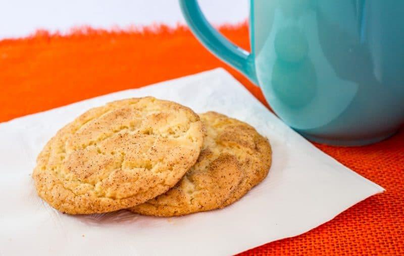 Snickerdoodle Cookies and a cup of coffee