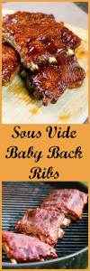 Sous vide cooking method guarantees tender ribs. Finish off under the broiler or on the grill.