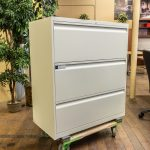 Teknion White 3 Drawer Lateral File Cabinets Peartree