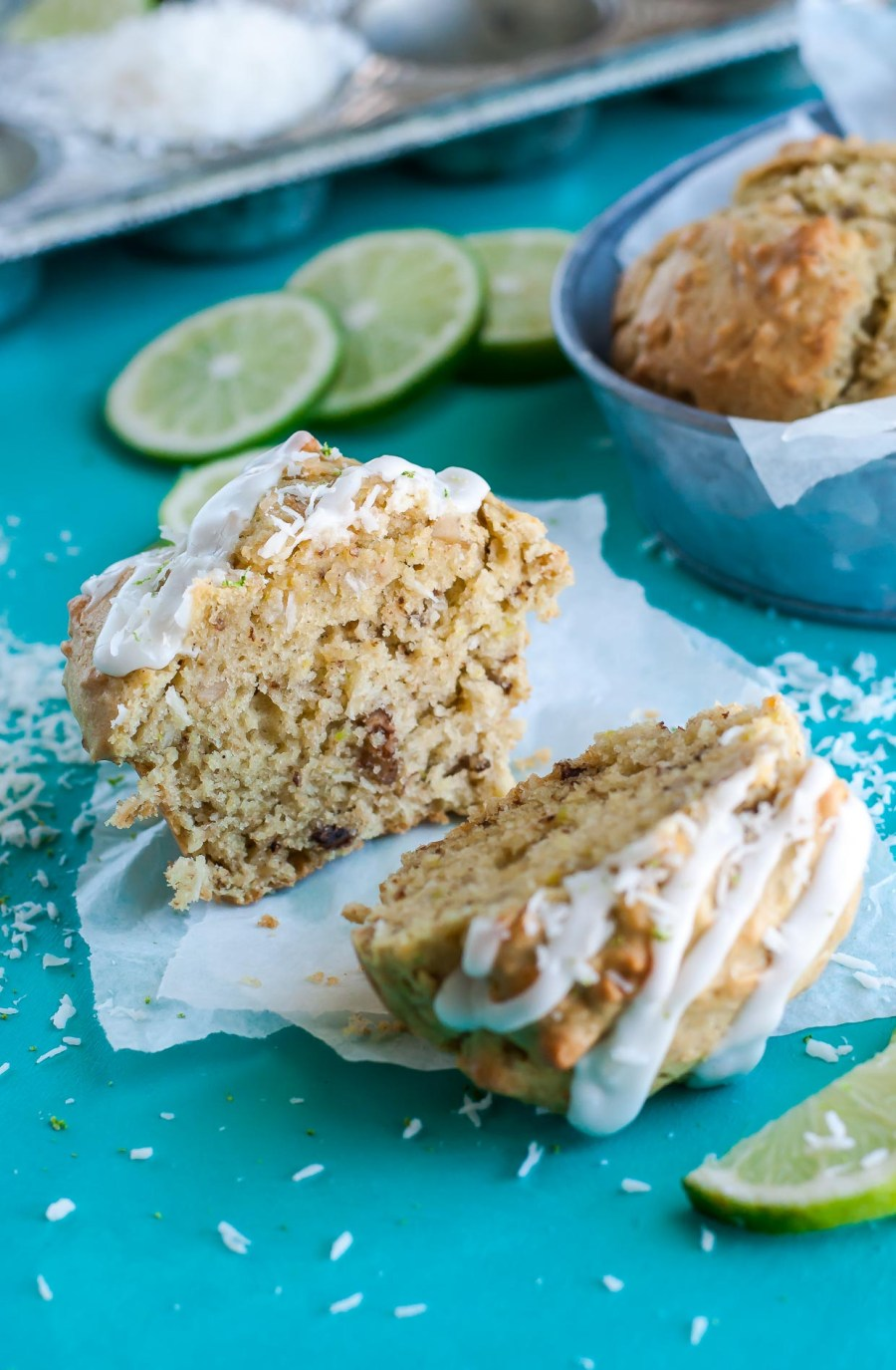 Coconut Lime Avocado Muffins