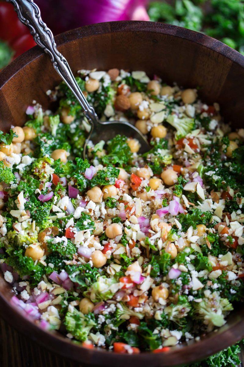 Quinoa Kale Salad with Lemon Dressing