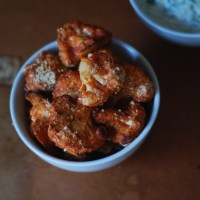 Hot Cauliflower Buffalo Wings | with Vegan Tzatziki.