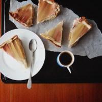 Rhubarb & Ginger Vegan Cheesecake | with White Chocolate.
