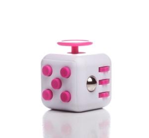 Fidget Cube alb/roz