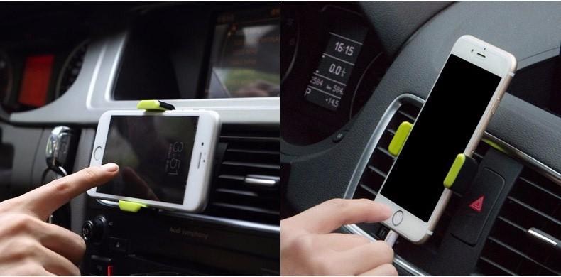 suport telefon auto ventilatie