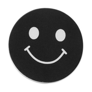 disc metalic smiley negru