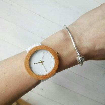 Ceas de mana din lemn Bobo Bird dama
