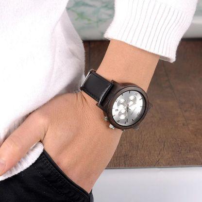 Ceas din lemn Bobo Bird crono, P28-2