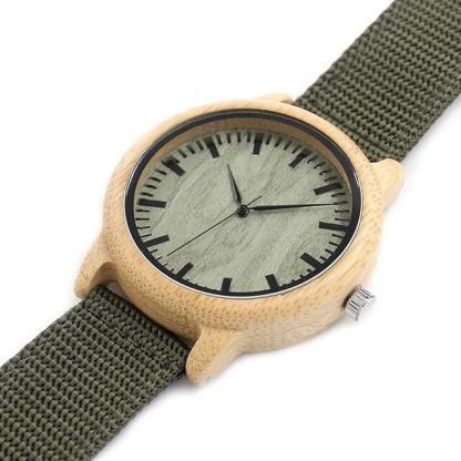 Ceas din lemn de bambus Bobo Bird