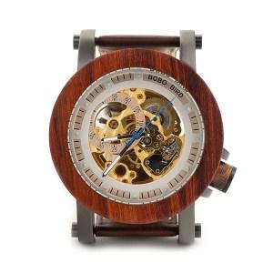 Ceas din lemn Bobo Bird mecanic maro