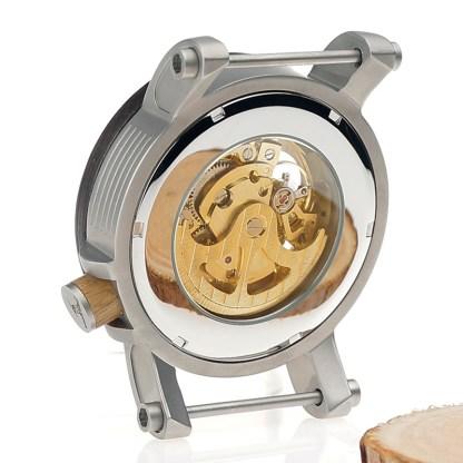 Ceas din lemn Bobo Bird mecanic transparent