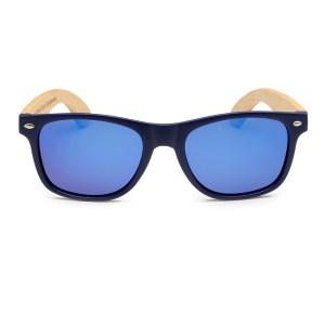 Ochelari de soare din lemn Bobo Bird, lentila albastra