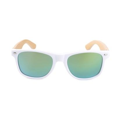 Ochelari de soare Bobo Bird alb, lentila verde