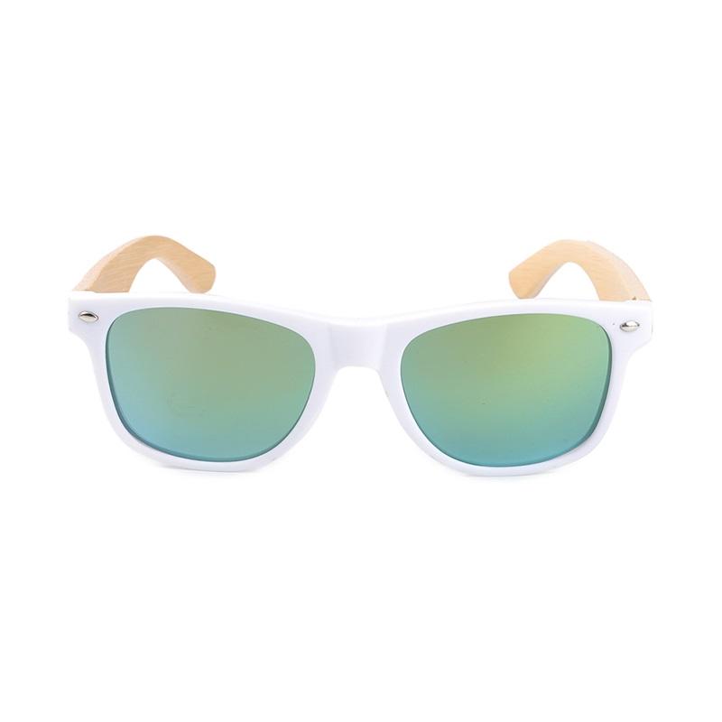 jumatate din design rafinat calitate fiabilă Ochelari de soare Bobo Bird alb, lentila verde | Pebamag.ro