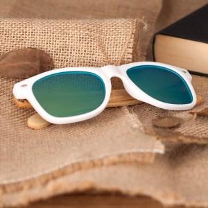 Ochelari de soare Bobo Bird alb lentila verde