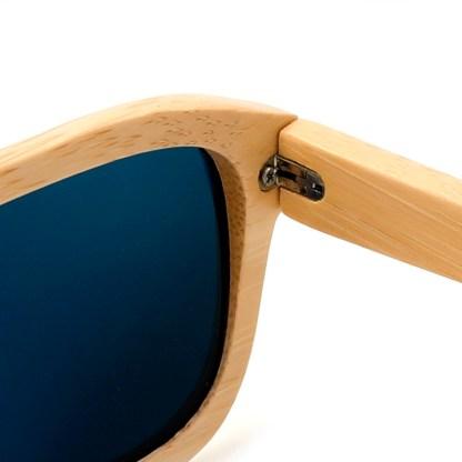 Ochelari de soare din bambus Bobo Bird, lentila albastra