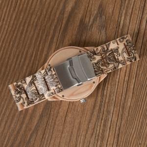 Ceas din lemn Bobo Bird cu curea lemn tatoo