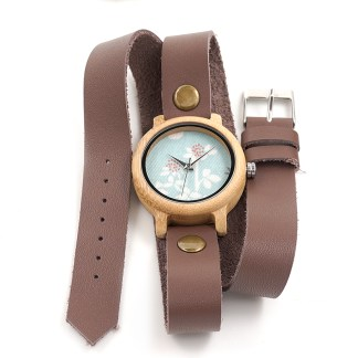 Ceas din lemn Bobo Bird dama cu curea lunga