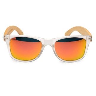 Ochelari de soare Bobo Bird transparent, lentila portocalie